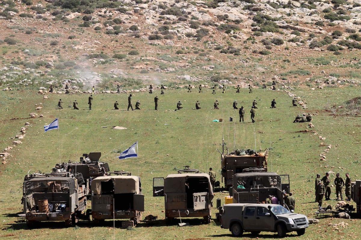 Gazze Sınırında İsrail Tatbikatı