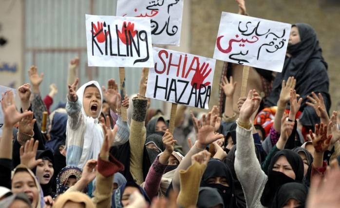 Pakistan Öldürülen Hazaralılar için Eylemde