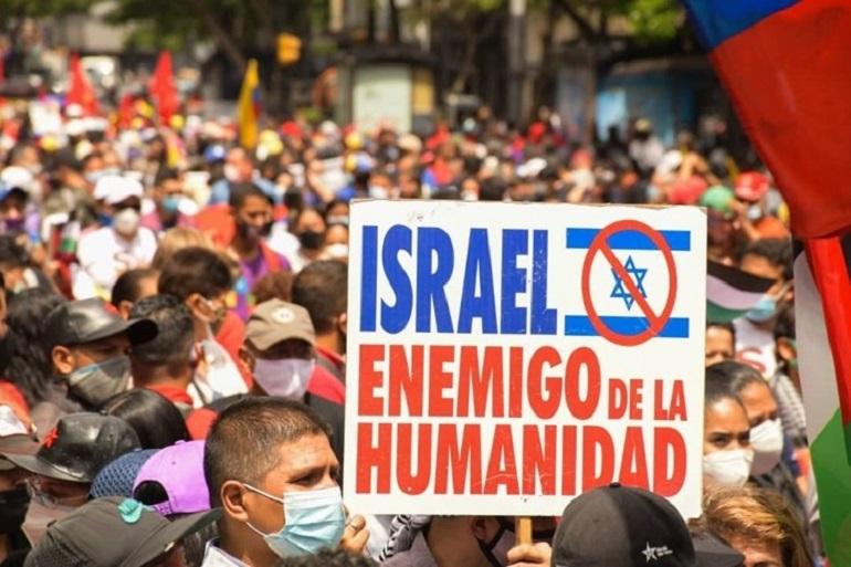 Venezuela'da İsrail Karşıtı Yürüyüş